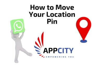 How do I move my location pin on WhatsApp?